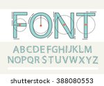 thin font. futuristic font.... | Shutterstock .eps vector #388080553