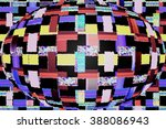 abstract technology mosaic glob | Shutterstock . vector #388086943