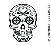 vector illustration of skull... | Shutterstock .eps vector #388125793