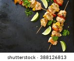 Grilled Chicken Kebab With...