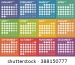 simple colorful calendar for... | Shutterstock .eps vector #388150777