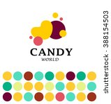 Vector Flat Candy Bar And Swee...