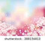 cherry blossom background | Shutterstock .eps vector #388156813