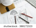 image of engineering objects on ... | Shutterstock . vector #388172323
