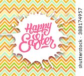 happy easter vintage greeting... | Shutterstock .eps vector #388174957