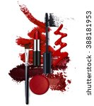 various cosmetic red fashion...   Shutterstock . vector #388181953