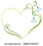 color frame with flowers | Shutterstock .eps vector #388194337