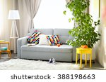 living room interior with sofa  ... | Shutterstock . vector #388198663