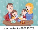 cartoon vector family...   Shutterstock .eps vector #388215577