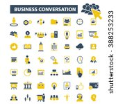 business conversation icons  | Shutterstock .eps vector #388253233