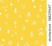 seamless hand drawn symbols... | Shutterstock .eps vector #388259647
