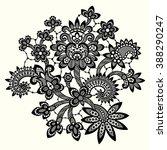 black lace. | Shutterstock .eps vector #388290247
