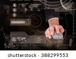 businessman in suit using mouse ... | Shutterstock . vector #388299553