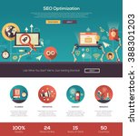 seo optimization website modern ... | Shutterstock .eps vector #388301203