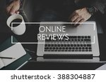 online reviews evaluation... | Shutterstock . vector #388304887