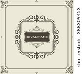 vector frame template. vintage... | Shutterstock .eps vector #388309453