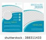 Brochure template flyer design vector background | Shutterstock vector #388311433