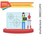 development and coaching woman. ... | Shutterstock . vector #388311493