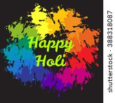 happy holi vector sign on... | Shutterstock .eps vector #388318087