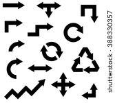various arrow set isolated on... | Shutterstock .eps vector #388330357