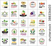 healthy food icons set  ... | Shutterstock .eps vector #388336603