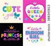 cool girlie t shirt print set ... | Shutterstock .eps vector #388345813