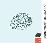 brain icon. human brain icon...