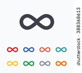 limitless sign icon. infinity... | Shutterstock . vector #388368613