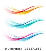 set of abstract color wave.... | Shutterstock .eps vector #388371853