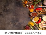 set of various aromatic... | Shutterstock . vector #388377463