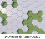 Green  Abstract 3d Hexagon...