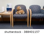 toy lion in hospital waiting... | Shutterstock . vector #388401157