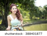 happy young beautiful woman... | Shutterstock . vector #388401877