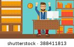 man working at office. | Shutterstock .eps vector #388411813