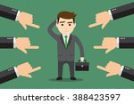 a businessman finger pointer by ... | Shutterstock .eps vector #388423597