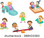 children play with toys in the... | Shutterstock . vector #388433383