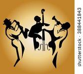 jazz trio | Shutterstock .eps vector #388441843