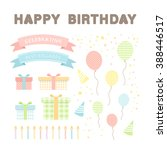 set of vector happy birthday... | Shutterstock .eps vector #388446517