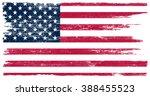 grunge usa flag. american flag... | Shutterstock .eps vector #388455523