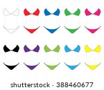 set of bikinis in different... | Shutterstock .eps vector #388460677