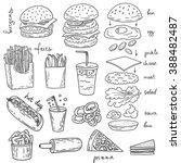 Sketchy Fast Food Illustration...