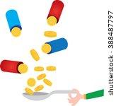 medicines with money | Shutterstock .eps vector #388487797