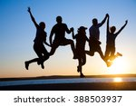 group of happy young people... | Shutterstock . vector #388503937