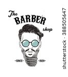 hipster barber shop business... | Shutterstock .eps vector #388505647