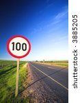 warning sign or road sign for... | Shutterstock . vector #3885205