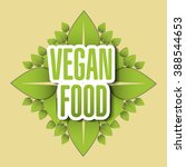 vegan icon design | Shutterstock .eps vector #388544653