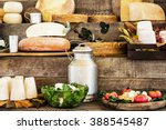 dairy products and vegetables... | Shutterstock . vector #388545487
