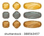 cartoon vector metallic buttons ...