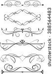 set of decorative calligraphic...   Shutterstock .eps vector #388564483