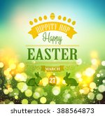 happy easter typographical... | Shutterstock . vector #388564873